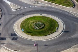 Roundabout accident claim